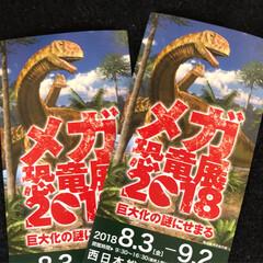 恐竜展/おでかけ 昨日はメガ恐竜展に行って来ました😊 子供…