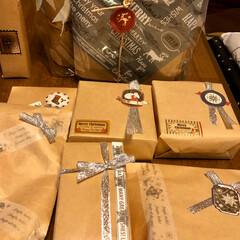 ベビーハイチェア/ワイン/プレゼント/ラッピング/カルディ/クリスマス/... 来週末に姪っ子達が来てクリスマスパーティ…(5枚目)