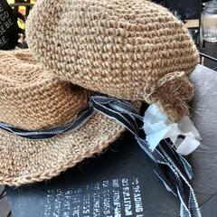 麻紐帽子/麻紐カバン/LIMIA手作りし隊/ハンドメイド/わたしのお気に入り またまた帽子です😆 この前のと似てるけど…