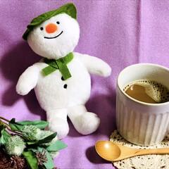 冬/スノーマン/カフェ・オ・レ うちにいるスノーマン ⛄️❄️  とって…(1枚目)