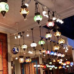 ランプ/エキゾチック/風景 トルコのランプなどを扱う店内 エキゾチッ…