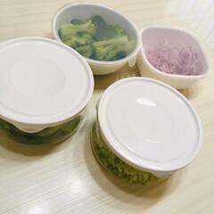 キッチン ✴︎イワキのパック&レンジ ガラス製で …(2枚目)