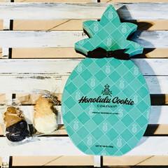 パイナップル型クッキー/ハワイ土産/ホノルルクッキーカンパニー ハワイ土産頂きました💕 ホノルルクッキー…
