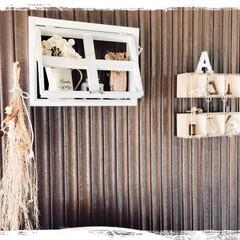 壁のディスプレイが苦手/セリアウッドボックス/窓枠シェルフDIY/DIY/雑貨/100均/...