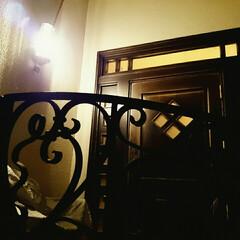 アイアンの門扉/アイアン/門扉/玄関/玄関ドア 『玄関ドアと門扉』 ドアは自分でデザイン…