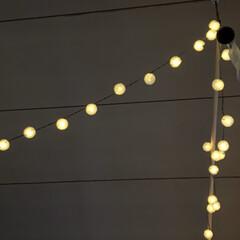 夕暮れの景色/ソーラーライト/暮らし 淡く光るソーラーライトの光が好きです。 …