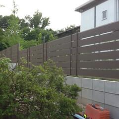 モクプラ/フェンス/境界ブロック/大津市 タカショーモクプラフェンス施工例