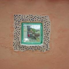 ガラスブロック/白目地/大津市 ガラスブロック、ガラスチップのフォーカル…