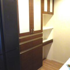 キッチン収納/食器棚 キッチンの食器棚を製作しました。引き出し…