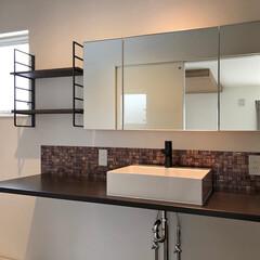 洗面台/アイアン/棚/カウンター/洗面/脱衣室/... 2階の子ども部屋もポップでかわいい仕上が…