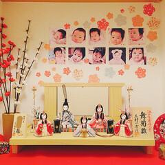梅の花/お花/折り紙/可愛く飾る/子どもと暮らす/3歳女の子/... 今日お雛様出しました!このpicは三年前…
