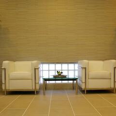 Office/SOFA/LC2 シンメトリーで安定感のある空間を演出。床…