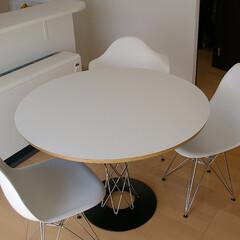 宮城県/Chair/シェルチェア/サイクロンテーブル 天板にプライウッド、脚にはステンレス…