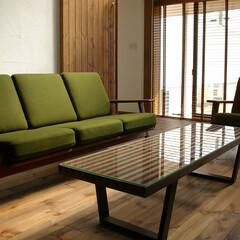 栃木県/SOFA/Table/290ソファ/ネスソンベンチ 落着いたトーンのウッドで全体をまとめ、…