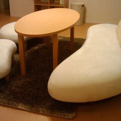 不動産・住宅/SOFA/フリーホームソファー 丸みのある家具は安心感を与えてくれます。…