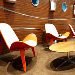 レジャー施設/Chair/Table/スリーレッグド・シェルチェア スリーレッグド・シェルチェアは背もた…