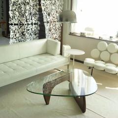 不動産・住宅/SOFA/Table/ノグチテーブル/マシュマロソファ ホワイトで統一された空間にアクセントで入…