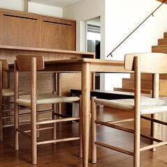 不動産・住宅/Chair/シェーカーチェア/ダイニングテーブル ボーエ・モーエンセンによって一般市民の…(1枚目)