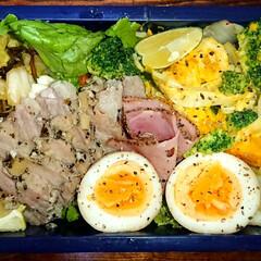 豚ロース/炭水化物抜き/弁当日記/ダイエット弁当 〰️明日の弁当〰️  ・豚ロースのバジル…