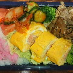 弁当日記 今日の弁当🎵 卵焼きmain🐣(1枚目)