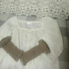 かぎ針編み こんな風にしたかったのですが今日はあいに…