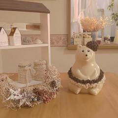 クリスマス2019/リミアの冬暮らし/雑貨/ハンドメイド/住まい/ファッション/... しろくまさんワードローブです✨ ミニスカ…