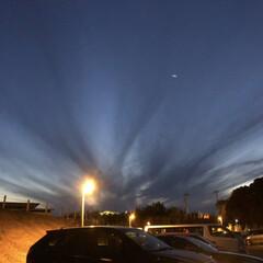 空/風景 不思議な夜空でした🌌