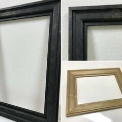 モールディング/モールディングフレーム/額縁/アイアンペイント/塗料/ペイント/... 建築資材であるモールディング(木製)で作…