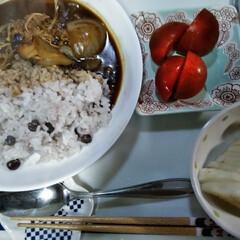 赤えんどう豆/糠漬け/おうちごはん  こんにちは(*^^*)  昨日の晩ごは…(1枚目)