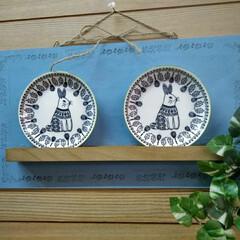 リメイク/グリーン/100均/セリア/ダイソー 前に買ってあったセリアのお皿を飾ってみた…