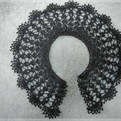つけ襟/スペアカラー/レース編み/ハンドメイド/手作り/ハンドメイド雑貨/...  こんにちは(*^^*)  やっと編み上…(1枚目)