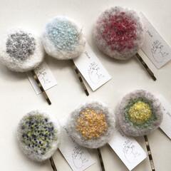 ヘアピン/ハンドメイド/ファッション めしべのヘアピン お花の真ん中をイメージ…