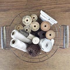 糸巻き/糸/ハンドメイド/雑貨/雑貨だいすき 糸いろいろ 繊維が好きです。 動物の毛が…