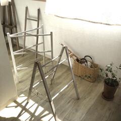 洗濯干し/ラダー/雑貨/住まい/暮らし/なつかしい 10年くらい前にはまっていたもの。 古木…