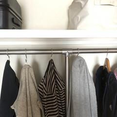 アルミ製/S字フック/クローゼット/洋服/収納/暮らし 洋服をハンガーにかけてからクローゼットの…