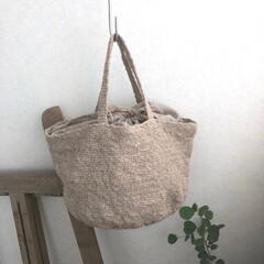 リネン/フラックス/かぎ針編み/ハンドメイド/わたしのお気に入り ベルギー産 フラックス繊維から紡いだ で…