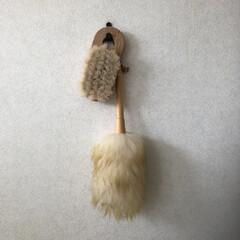 ホコリ取り/ブラシ/雑貨/インテリア/住まい/掃除/... ボディブラシと羊毛のホコリ取り どうも私…