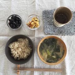 素食/玄米/おうちごはん/フード/ごはん 玄米ごはん  夫の実家から玄米をたくさん…