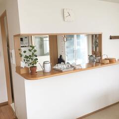 吊り戸棚/キッチンカウンター/キッチン雑貨/キッチン/住まい/収納 我が家のキッチン  吊り戸棚がなければも…