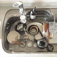 掃除/食器洗い/家事/キッチン/キッチン雑貨/雑貨 毎日の食器洗い 水切りかごも洗剤やスポン…