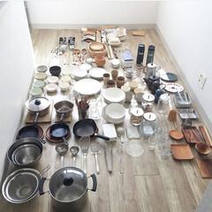 整理/キッチン/収納/キッチン雑貨 キッチン用品全部出して 使っているものと…