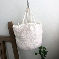 かぎ針編み/リネン/フラックス繊維/ハンドメイド/わたしのお気に入り こちらはエジプト産のリネン ベルギー産に…