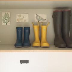 レインブーツ/AIGLE/mont-bell/長靴/雑貨/ファッション/... 出番の少ない長靴親子 子供用の青と黄色は…