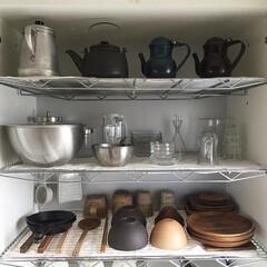 琺瑯/ガラス/ステンレス/陶器/キッチン収納/食器棚/... 我が家の食器棚 毎日開ける場所だから と…
