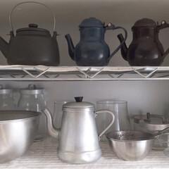 急須/ティーポット/コーヒーポット/ポット/キッチン/キッチン雑貨/... ポットたち ポットは大好きな雑貨のひとつ…