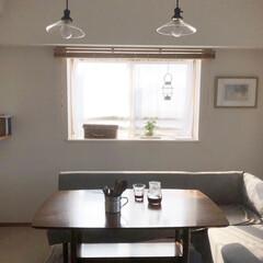 ペンダントライト/ダイニングチェア/ダイニングテーブル/暮らし 我が家のダイニングテーブルとソファ(un…