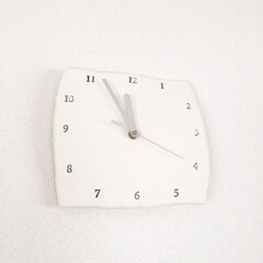 時計キット/時計/ハンドメイド 手作り時計  軽い紙粘土と数字スタンプと…