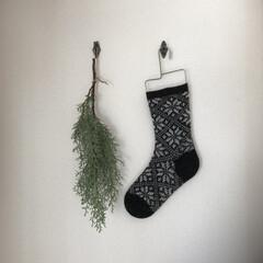 靴下ハンガー/靴下/ブルーアイス/クリスマス2019 壁飾りをXmasっぽく ブルーアイスと雪…