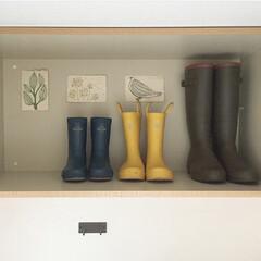 雨の日/長靴/収納/雑貨/雨季ウキフォト投稿キャンペーン 親子長靴 長靴って並んでいるだけでなんだ…