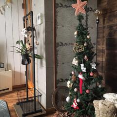 オーナメント/クリスマス/クリスマスツリー/ニトリ クリスマスツリーの飾り付けを子供たちとし…